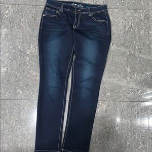 INC Denim Skinny Leg Regular Fit Dark blue Jean